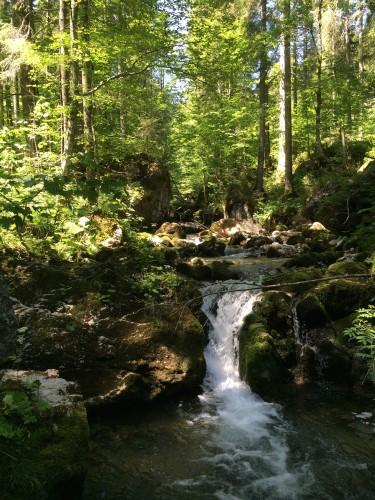 Das ist ein Wasserfall. Es fällt: Wasser.