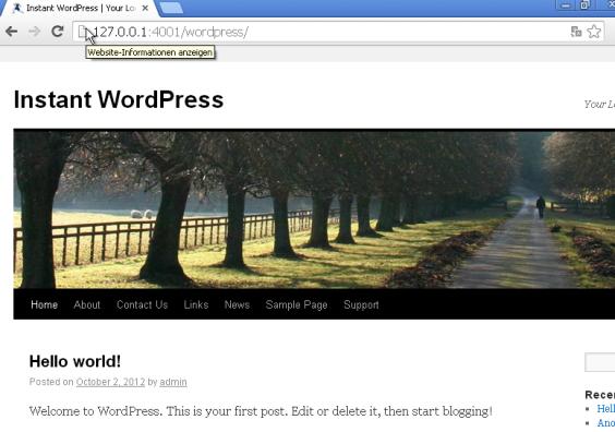 Wordpress Frontpage