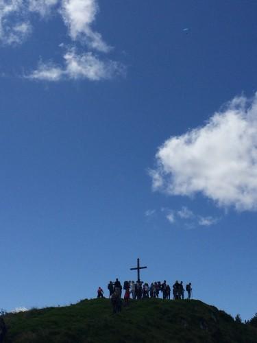 Stau am Gipfelkreuz