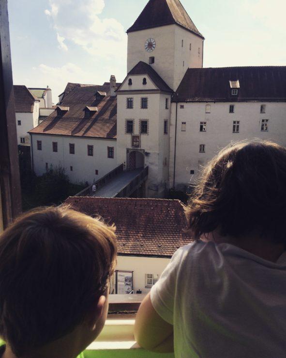 Der Blick aus unserem Jugenherbergszimmer ...